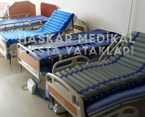 Haskar Medikal firmasında üretilmiş hasta yatakları