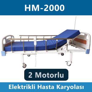 2 motorlu hasta karyolası hm-2000