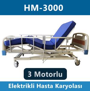 3 motorlu hasta karyolası