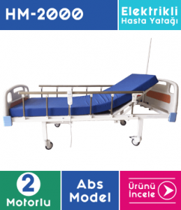 ABS Hasta Yatağı 2 Motorlu