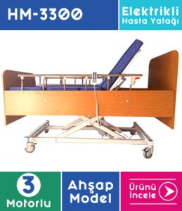 Hasta Yatağı 3 Motorlu Ahşap