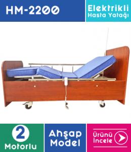 Hasta Yatağı Ahşap 2 Motorlu