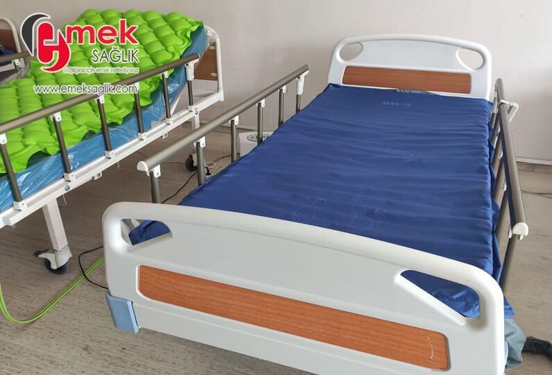 160 kg taşıma kapasiteli hasta yatağı