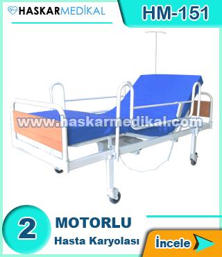 2 Hareketli Hasta Yatağı