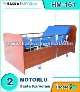 2 Hareketli Ev Tipi Hasta Yatağı HM-161