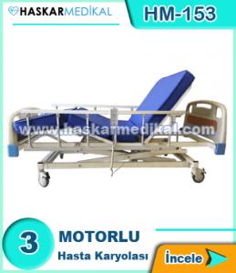 3 Hareketli Ev Tipi Hasta Yatağı HM-153