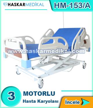 3 Hareketli Hasta Yatağı HM-153/A