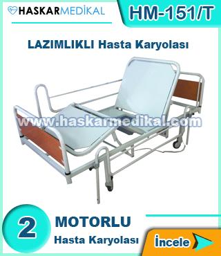 2 Motorlu Lazımlıklı Hasta Yatağı HM-151/T
